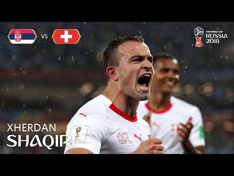Xherdan SHAQIRI Goal - Serbia v Switzerland - MATCH 26