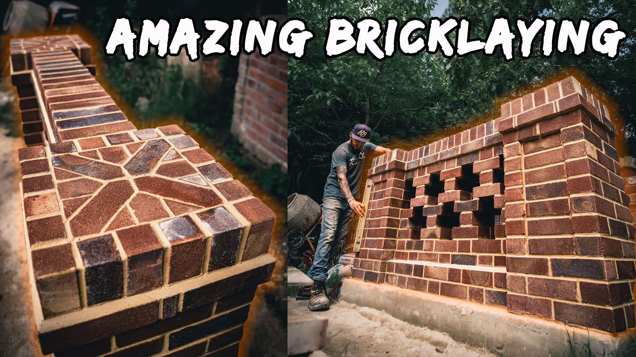 How to build an AMAZING BRICK WALL from START TO FINISH
