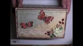 Altered Or Embellished Wooden Decorative Storage Box