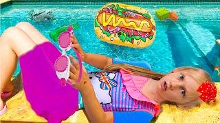 Ястася хочет плавать в бассейне летом