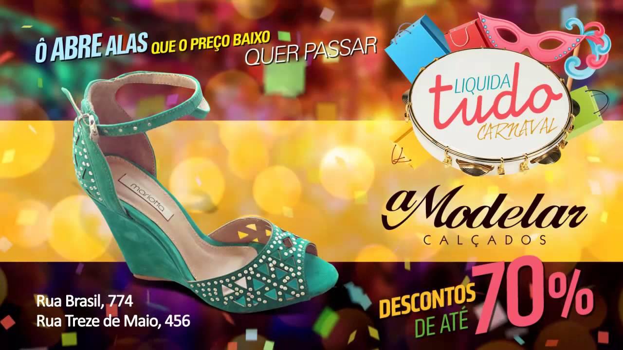 Promoção de Carnaval A Modelar Calçados - YouTube 30057a3073a7c