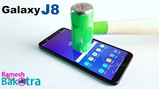 Samsung Galaxy J8 Screen Glass Scratch Test