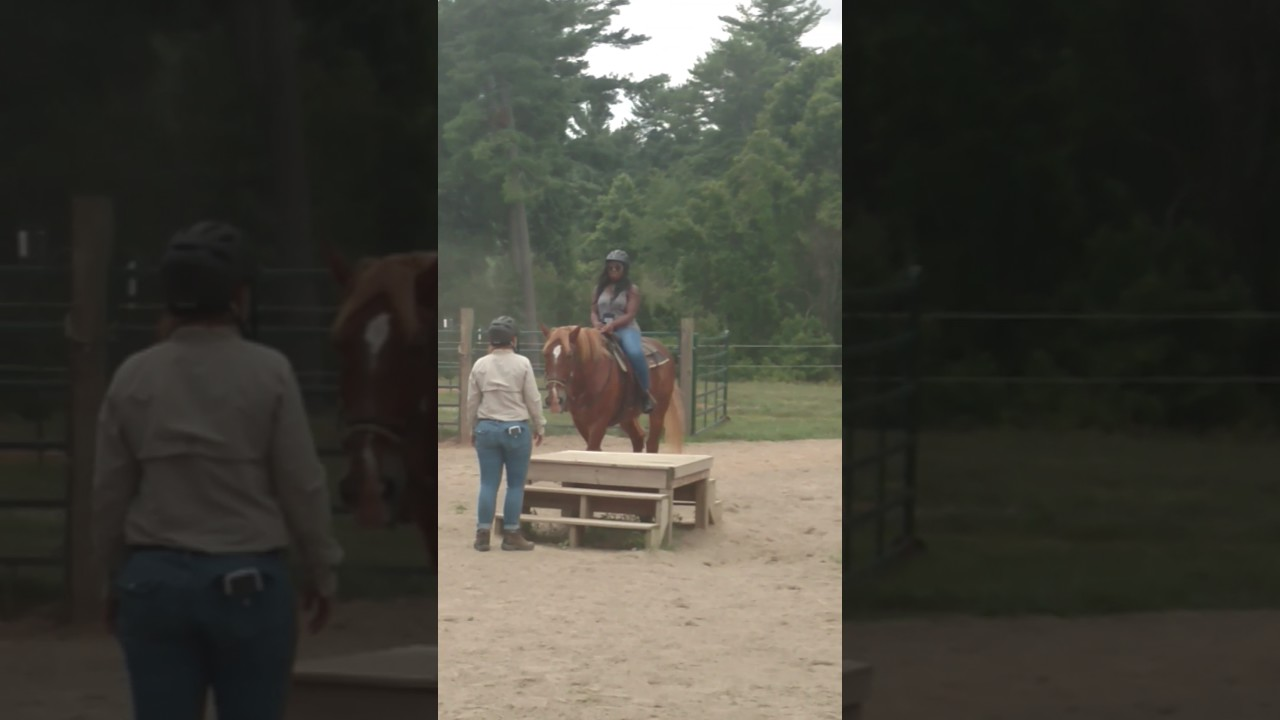 Adrie riding at the Biltmore