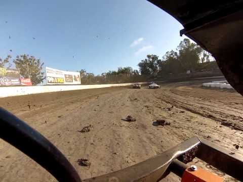 Santa Maria Speedway Austin Ruskauff Hobby Stock #88R Heat Race View #2 Part 2 7/27/13