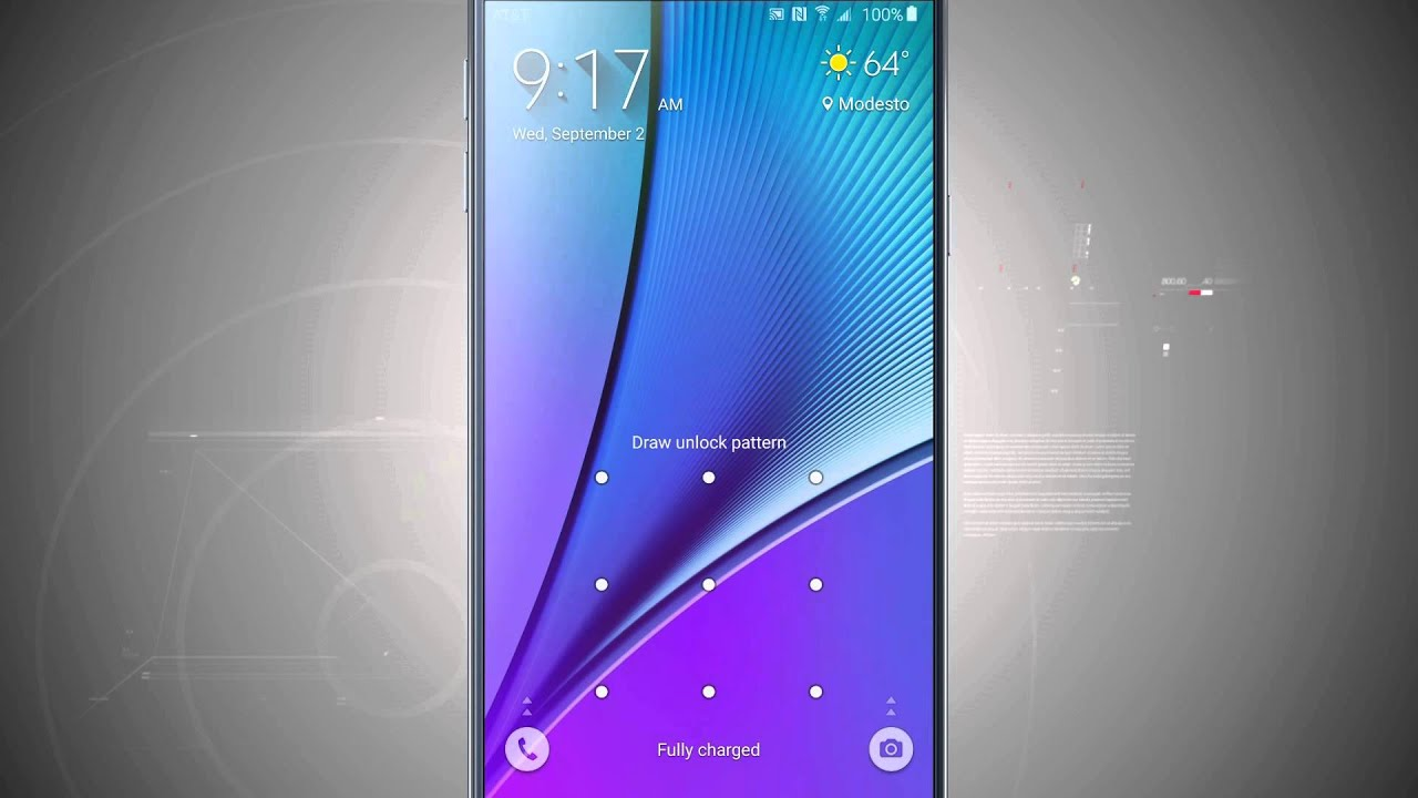 Customize The Lock Screen On The Samsung Galaxy Note 5 Youtube