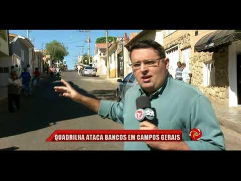 Campos Gerais: bandidos explodem agência bancária na cidade