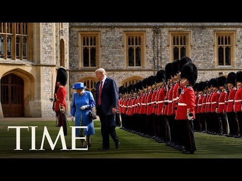 President Donald Trump Meets With Queen Elizabeth At Windsor Castle  TIME