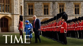 President Donald Trump Meets With Queen Elizabeth At Windsor Castle | TIME