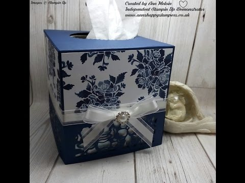 Beautiful Tissue box cover using Detailed Floral Thinlits