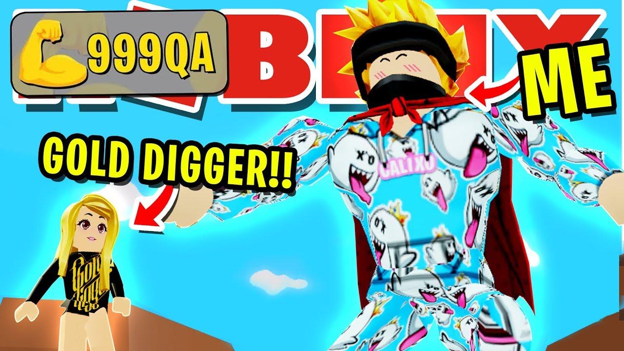 NOOB DISGUISE TROLLING!! I CAUGHT THE BIGGEST GOLDIGGER ROBLOX LIFTING SIMULATOR!!
