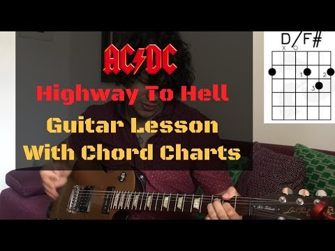 How To Play Highway To Hell - ACDC Guitar Lesson With Chord Diagrams