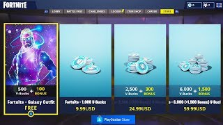 "NEW ""Galaxy Skin"" STARTER PACK NOW FREE! - NEW Fortnite UPDATE! (Fortnite Item Shop Countdown)"