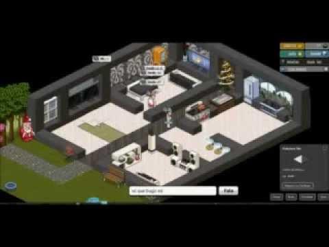 Como construir casa moderna en habbo youtube for Como hacer una casa en habbo