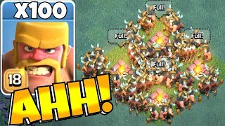 NEW Using ALL Elite Lvl 18 Barbs Clash Of Clans BH9 MASS ATTACK