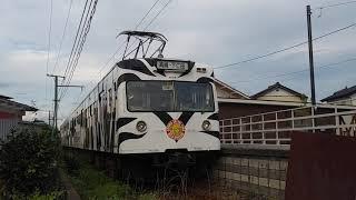 【さようなら】上信電鉄150形 153F 上州七日市駅出発シーン