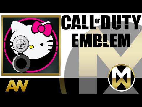 COD Advanced Warfare Emblem Tutorial -  Hello Kitty