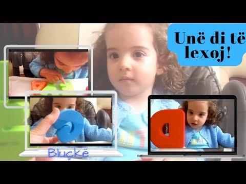 2 vjecarja njeh te gjitha shkronjat e alfabetit shqip dhe ngjyrat. (Albanian Alphabet/Language))