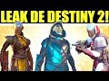 Destiny 2 Leak: Nivel Máximo, Quiebrasoles, Acechador Nocturno, Invocatormentas y mas!