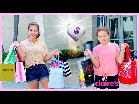 WE BOUGHT ONE THING FROM EVERY STORE IN THE MALL | SISTER FOREVER