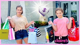 Download WE BOUGHT ONE THING FROM EVERY STORE IN THE MALL | SISTER FOREVER Mp3 and Videos