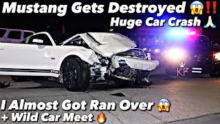 The Biggest Mustang Car Crash Ever Captured On Film *Must Watch*