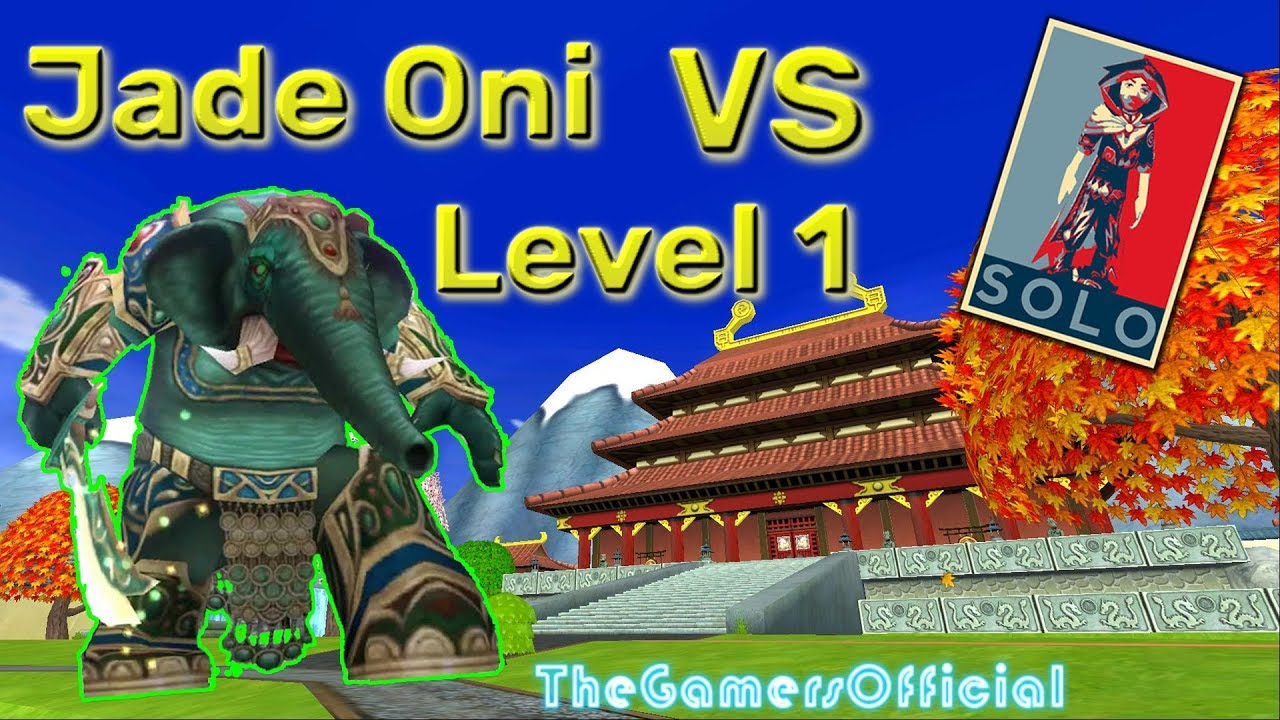 Wizard101 - Level 1 Solo of Jade Oni
