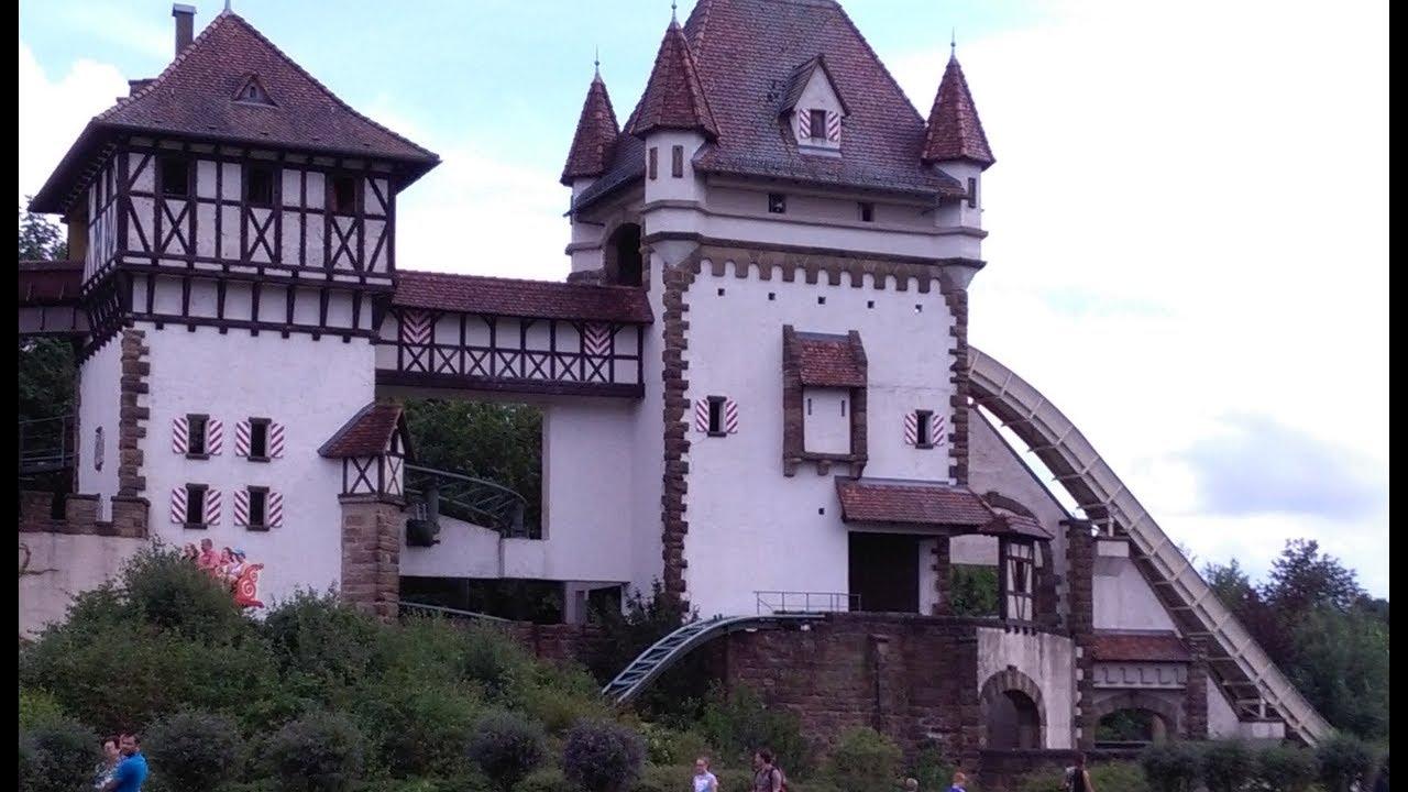 Парк развлечений и отдыха в Германии Tripsdrill. Немецкие аттракционы.