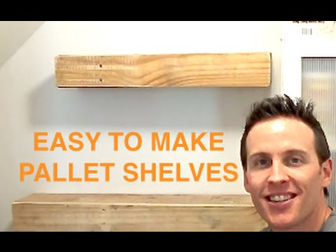 RUSTIC WOOD PALLET FLOATING SHELVES - PALLET PROJECTS ...