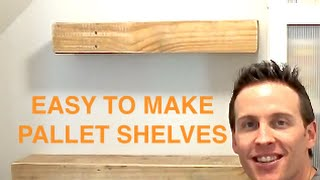 Rustic Wood Pallet Floating Shelves - Pallet Projects