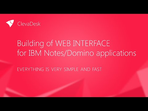 Building of web interface  for IBM Notes/Domino applications (new edition)
