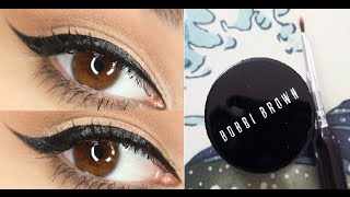 #2 Winged eyeliner tutorial using Bobbi Brown Long-Wear Gel Eyeliner in black ink Thumbnail