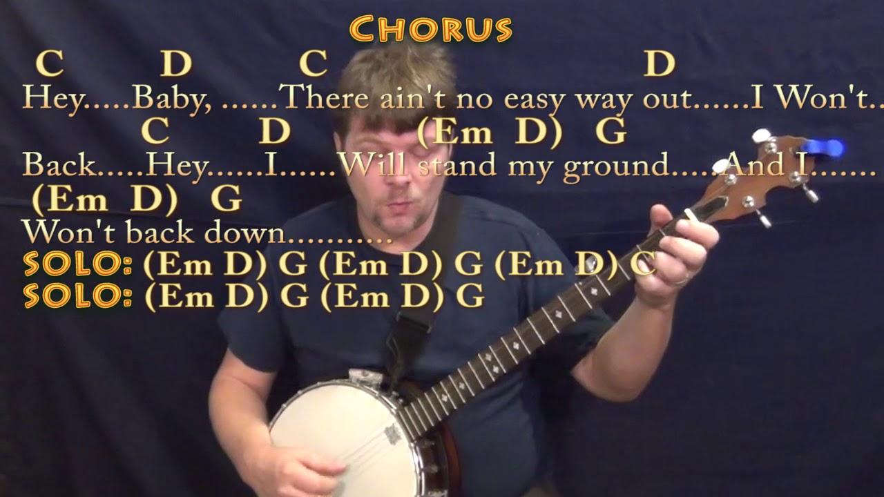 I wont back down tom petty banjo cover lesson with chords i wont back down tom petty banjo cover lesson with chordslyrics hexwebz Image collections