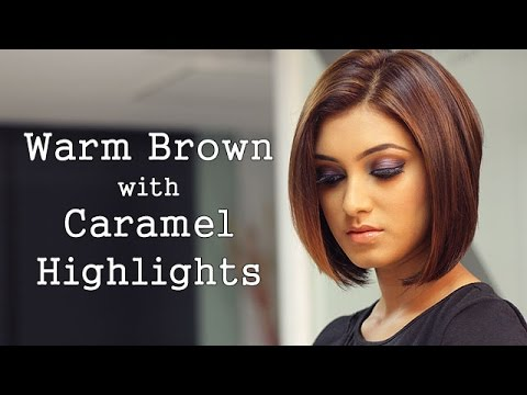 Images Of Brown Hair With Caramel Highlights