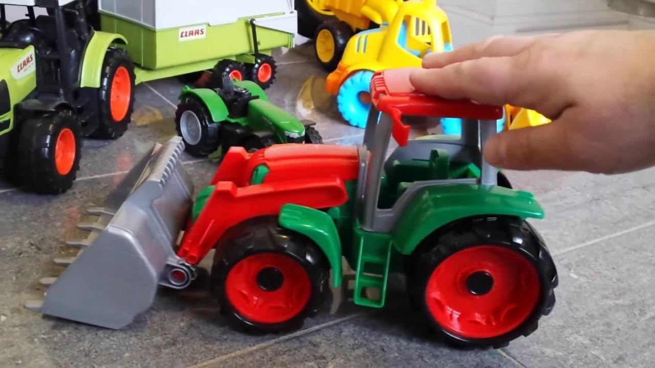 Small Tractor Cartoon : Tractor compilation for kids jcb john deer