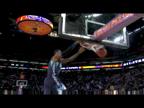 NBA All-Star 2009 PHX LeBron James Slam dunk
