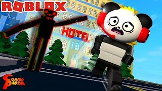 ESCAPE THE SCARY HAUNTED HOTEL IN ROBLOX Let's Play Roblox with Combo Panda