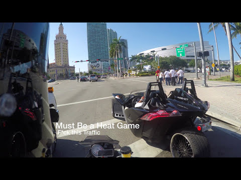 The Scenic Route: Downtown, Rooftop Pool Party, and the Port of Miami (BMW S1000R)