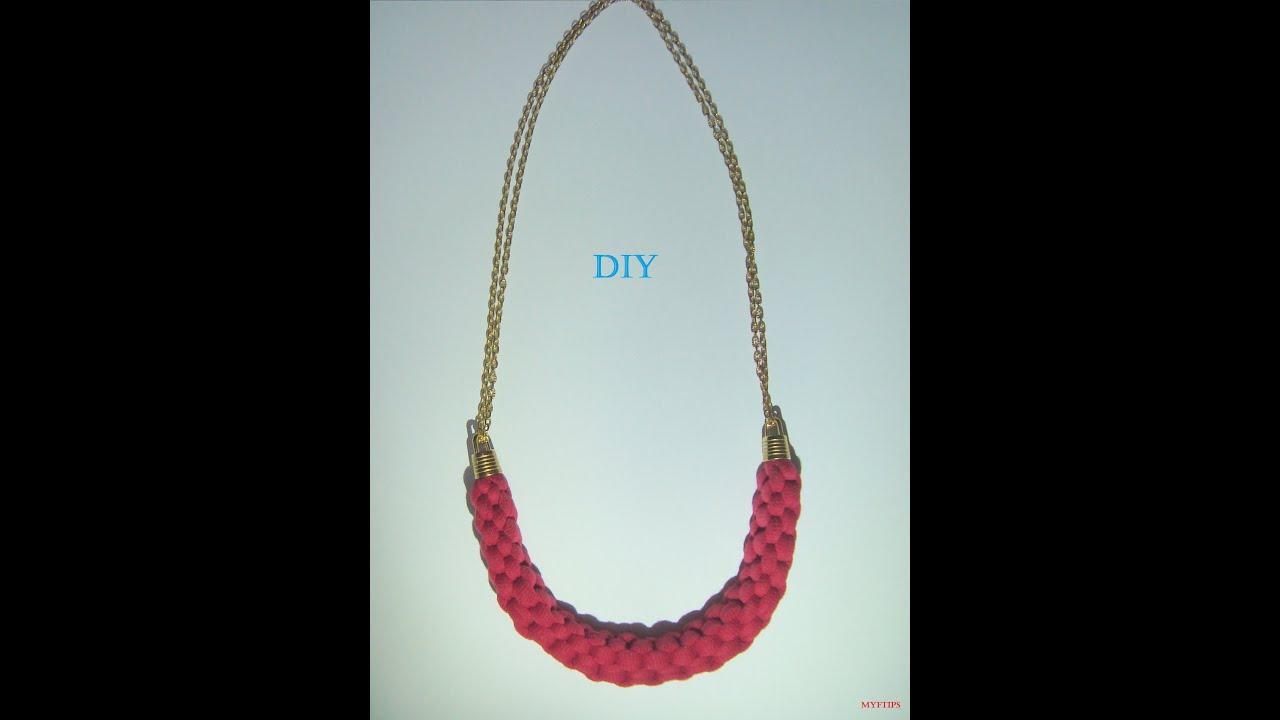 DIY Collar de moda, Fácil collar de Tela a la Moda