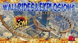 MADNESS, EXPLOSION & MEGAWALLRIDE w/Familia Brisados {GTA5 Online Epic Funny Moments Alphyx PS4}
