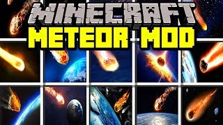 Minecraft METEOR MOD! | SURVIVE AGAINST REALISTIC METEORS! | Modded Mini-Game