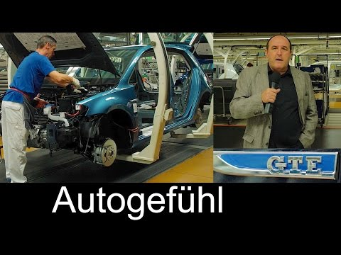 Volkswagen Wolfsburg assembly plant FEATURE electric cars production VW eGolf & GTE