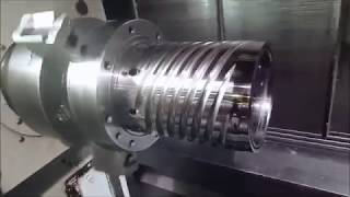CNC Machining of a spiral die at Zala Machine on our Mori Seiki NTX 2000