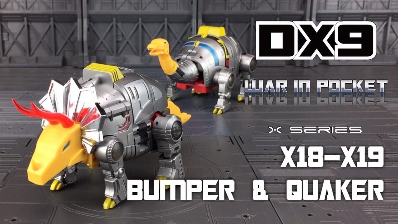 DX9 War In Pocket Dinobot Set X18~22 Bumper Quaker Skyer Thorner Rager