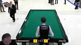 Бильярд Крыжановского на Чемпионате Мира 2015 в поединке с Ахолой.