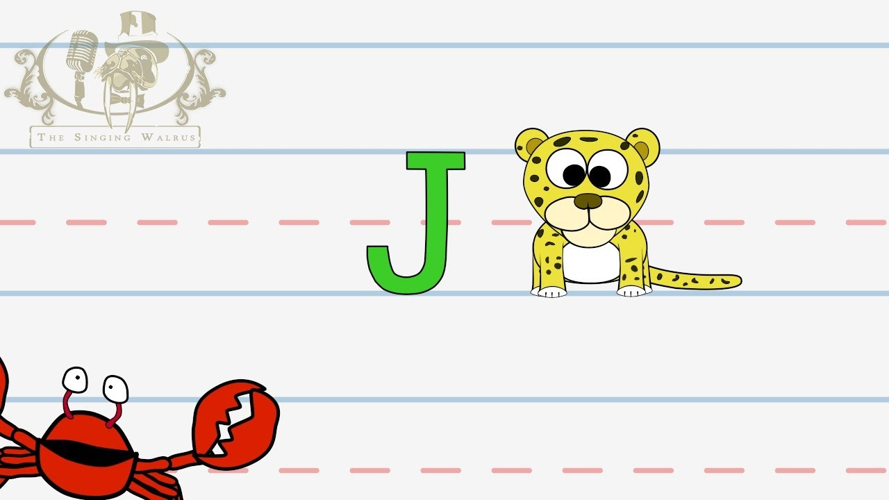 letter j song write the letter j alphabet writing lesson for children 22890