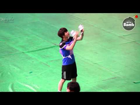 "[BANGTAN BOMB] Cheerleader jin with ARMY Bomb ─○"""