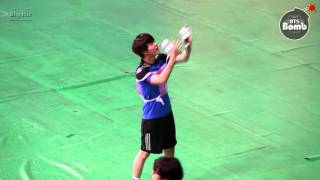 [BANGTAN BOMB] Cheerleader jin with ARMY Bomb ─○""