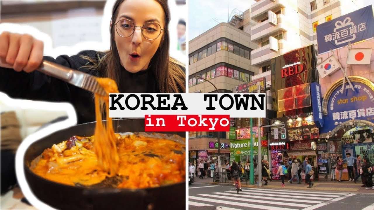 KOREA TOWN IN TOKYO & WAITING 240 MINUTES FOR CHEESE DAKGALBI!?