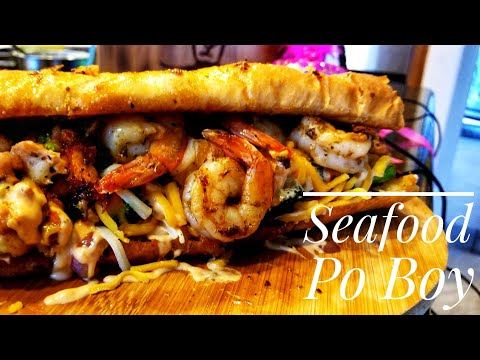 Seafood Cajun Po Boy /Po Boy Recipes/Blackstone Cooking