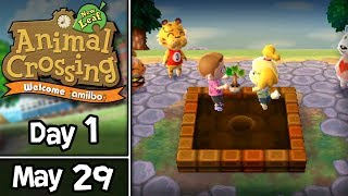 Animal Crossing: New Leaf, Day 1: Tchville's New Mayor! •  May 29 • Welcome amiibo Update